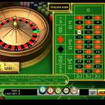 Online European roulette wheel