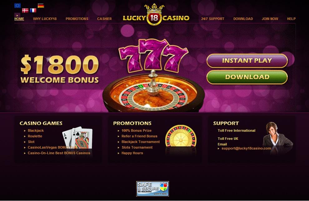 Lucky18Casino Banking
