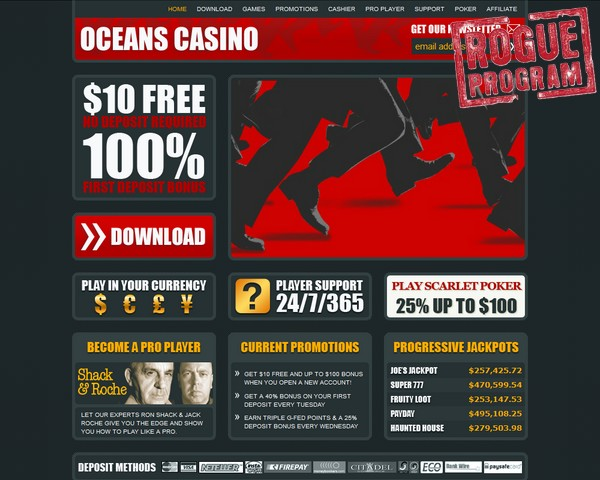 online casino fraud