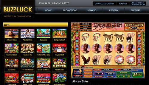 Buzzluck Casino No Deposit Bonus Codes